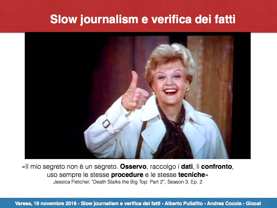 Slow Journalism e Verifica dei fatti